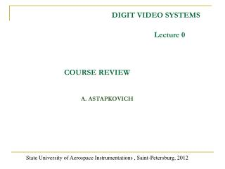 DIGIT VIDEO SYSTEMS
