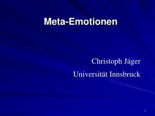 Meta-Emotionen
