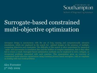 Surrogate-based constrained multi-objective optimization
