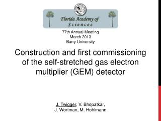 Construction and first commissioning of the self-stretched gas electron multiplier (GEM) detector