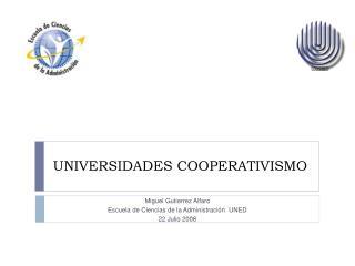 UNIVERSIDADES COOPERATIVISMO