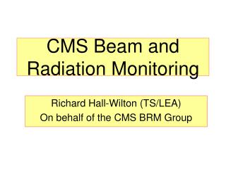 CMS Beam and Radiation Monitoring