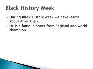 Black History Week