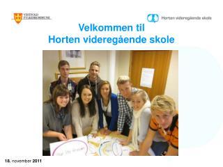 Velkommen til Horten videregående skole