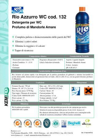 Rio Azzurro WC cod. 132 Detergente per WC Profumo di Mandorle Amare