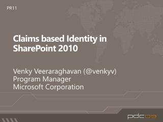 Claims based Identity in SharePoint 2010