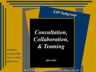 EIP Subgroup