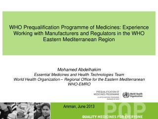 Mohamed Abdelhakim Essential Medicines and Health Technologies Team