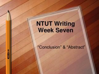 NTUT Writing Week Seven