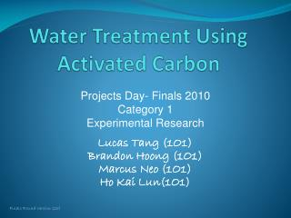 Water Treatment Using Activated Carbon