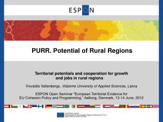 PURR. Potential of Rural Regions