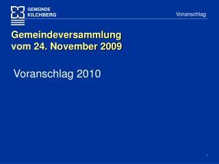 Voranschlag 2010