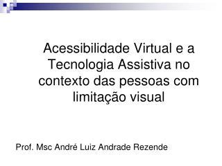 Acessibilidade Virtual e a Tecnologia Assistiva no contexto das pessoas com limitação visual