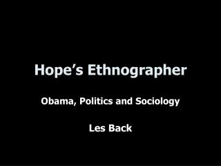Hope's Ethnographer