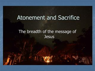 Atonement and Sacrifice