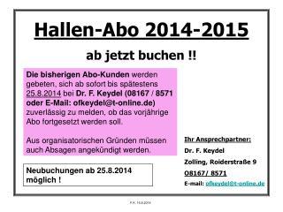 Hallen-Abo 2014-2015