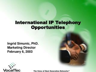 International IP Telephony Opportunities