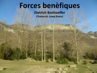 Forces benèfiques Dietrich Bonhoeffer (Traducció: Josep Ruaix)