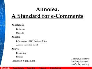Annotea,  A  Standard for e-Comments