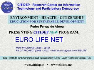 PRESENTING  CITIDEP NEW  PROGRAM: