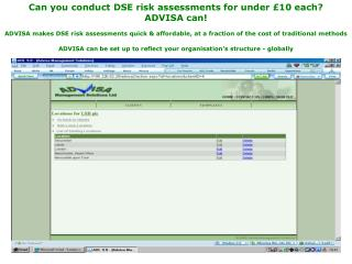 Can you conduct DSE risk assessments for under £10 each?  ADVISA can!