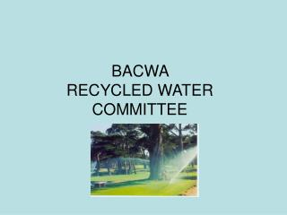 BACWA  RECYCLED WATER COMMITTEE
