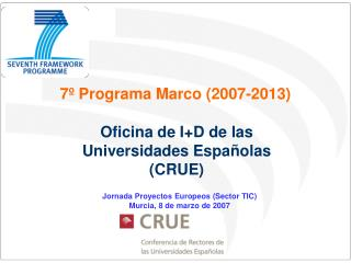 7º Programa Marco (2007-2013)