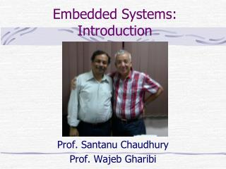 Embedded Systems: Introduction