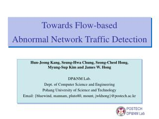 Towards Flow-based  Abnormal Network Traffic Detection