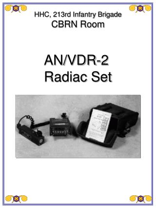 AN/VDR-2 Radiac Set