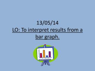 13/05/14 LO: To interpret results from a bar graph.