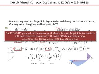 Deeply Virtual Compton Scattering at 12 GeV � E12-06-119