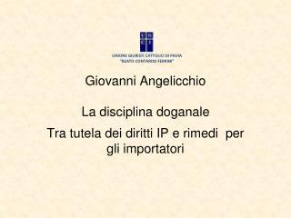 Giovanni Angelicchio La disciplina doganale