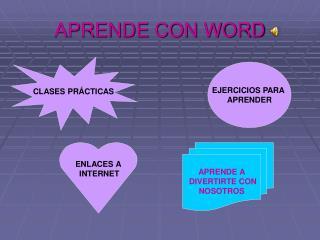 APRENDE CON WORD
