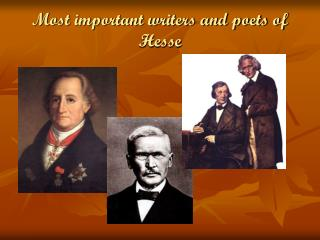 Most important writers and poets of Hesse