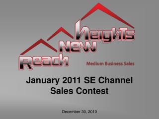 January 2011 SE Channel Sales Contest
