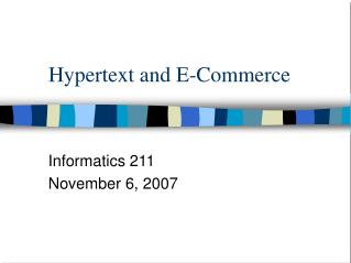 Hypertext and E-Commerce
