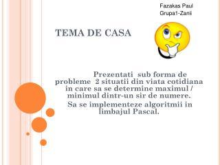 TEMA DE CASA