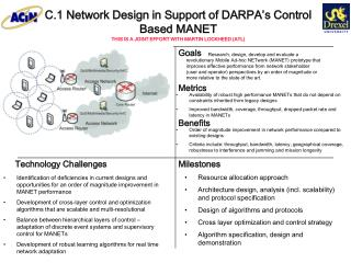 C.1 Network Design in Support of DARPA's Control Based MANET