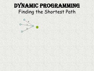 Dynamic Programming Finding the Shortest Path
