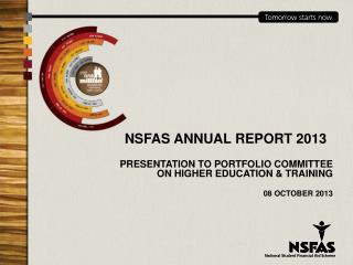 NSFAS ANNUAL REPORT 2013