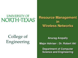 Resource Management in Wireless Networks