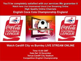 CARDIFF CITY VS BURNLEY LIVE STREAM ONLINE TV SHOW