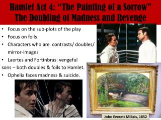 """Hamlet Act 4: """"The Painting of a Sorrow"""" The Doubling of Madness and Revenge"""