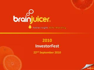 2010 InvestorFest 22nd September 2010