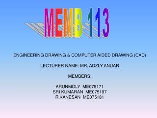 MEMB 113