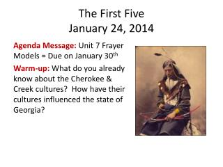 The First Five January 24, 2014