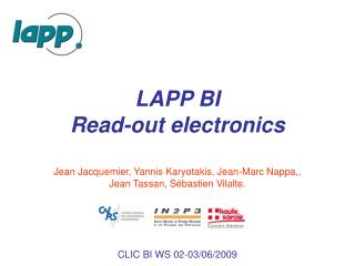 LAPP BI Read-out electronics