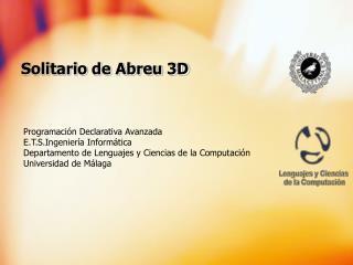 Solitario de Abreu 3D