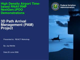 High Density Airport Time-based RNAV